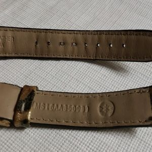 Michele Accessories - Michele watch straps leopard patent leather